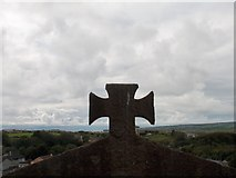 R1388 : View towards the Atlantic Ocean from Ennistymon's Old Cemetery by Neil Theasby