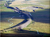 SD7579 : An evening view of Ribblehead Viaduct  from the summit of Whernside by John Lucas