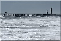 NZ8911 : The harbour entrance, Whitby by Dave Hitchborne