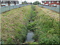 ST3487 : Reen is the boundary between two housing estates, Newport by Jaggery