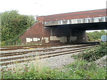 ST3487 : South Wales main railway line passes under Spytty Road bridge, Newport by Jaggery