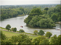 TQ1773 : Glover's Island, Richmond Upon Thames by Peter S