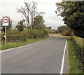 ST3785 : Weight limit on the road north from Whitson  by Jaggery