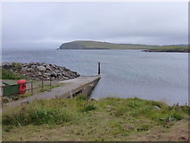 HU1857 : Sandness: Melby pier by Chris Downer