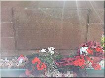 TM1763 : WW1 names on War Memorial, Debenham by Helen Steed