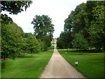 SU7037 : The driveway to Chawton House by Marathon