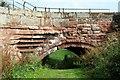 SJ4154 : Flood Arch on Farndon/Holt Bridge by Jeff Buck