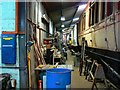 SU1090 : Inside the workshop, Hayes Knoll Station, Swindon and Cricklade Railway (2 of 3) by Brian Robert Marshall