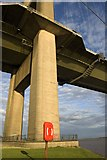 TA0225 : Base of the Humber Bridge tower by Paul Harrop