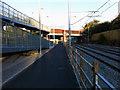 SJ8293 : Cycle path and ramp west of St Werburgh's Road Metrolink station, Chorlton by Phil Champion