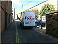 SE0925 : Double yellow lines on Blackledge, Halifax by Phil Champion