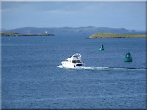 HU4642 : Lerwick: view north along the Bressay Sound by Chris Downer