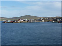 HU4741 : Lerwick: town and harbour from the north by Chris Downer