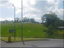 H6257 : (Part of a) roundabout on the A5 south of Ballygawley by C Michael Hogan