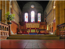 SE6183 : All Saints' Church, Altar and East Window by David Dixon
