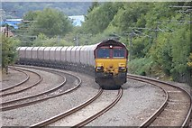 SP0278 : Freight Train Approaching Northfield by Rob Newman