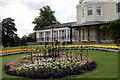 SU8486 : Flowerbed, Higginson Park, Marlow, Buckinghamshire by Christine Matthews