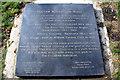 SU8486 : Plaque for Marlow Millennium Maze, Marlow, Buckinghamshire by Christine Matthews