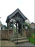 SU5846 : Dummer - All Saints Church: lych gate by Basher Eyre