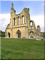 SE5478 : Remains of Rose Window, Byland Abbey by David Dixon