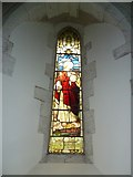SU5846 : Dummer - All Saints Church:  stained glass  window (i) by Basher Eyre