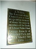 SU5846 : Dummer - All Saints Church: memorial (e) by Basher Eyre