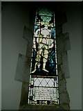 SU5846 : Dummer - All Saints Church: stained glass  window (v) by Basher Eyre
