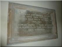 SU5846 : Dummer - All Saints Church: war memorial by Basher Eyre