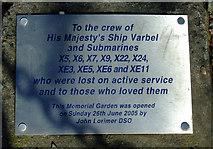 NS0667 : Memorial garden plaque by Thomas Nugent