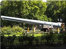 TQ3179 : Gun turrets, Imperial War Museum Gardens, Lambeth Road SE1 by Robin Sones