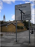 TQ3279 : Street sign, Borough Road SE1 by Robin Sones