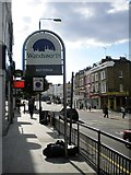 TQ2875 : Welcome to Battersea sign, Lavender Hill SW11 by Robin Sones