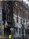 TQ2775 : Burn out shop front, Lavender Hill SW11 by Robin Sones