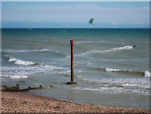 TQ7407 : Para sailer off Bexhill Beach by Oast House Archive