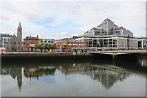 O1634 : River Liffey, City Quay, Dublin, Ireland by Christine Matthews