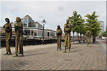 O1634 : Famine Memorial, Custom House Quay, Dublin, Ireland by Christine Matthews