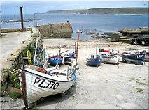 SW3526 : Sennen Cove Harbour by Bob Jones