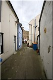NZ7818 : Boathouse Yard, Staithes by Dave Hitchborne