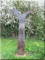 NU2131 : Millennium milepost, North Sunderland by Richard Webb