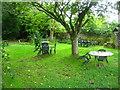 SU7433 : Damp pub garden by Sandy B