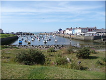 SN4562 : The harbour town of Aberaeron by Jeremy Bolwell