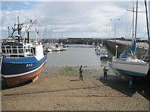 NO5603 : Boat maintenance at Anstruther by Bob Jones