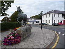 SN4562 : Welsh Cob statue, Aberaeron by Jeremy Bolwell