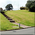 ST1387 : Steps up to Hendredenny houses, Caerphilly by Jaggery