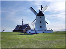 SD3727 : Lytham Windmill and Old Lifeboat House by David Dixon