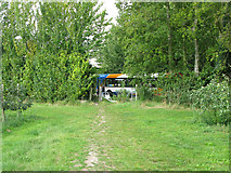 TR3256 : Bridleway at Biller's Bush where it meets the A258 by Nick Smith