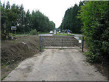 TR3256 : The Dover Road at roundabout on the A256 by Nick Smith