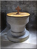 NY9650 : The Church of St. Mary The Virgin - font by Mike Quinn
