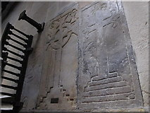 NY9650 : The Church of St. Mary The Virgin - mediaeval tombstones by Mike Quinn