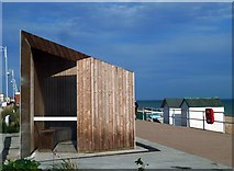 TQ7306 : The ultra-modern version of the traditional seaside shelter by John Winfield